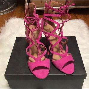 Pink JUSTFAB heels